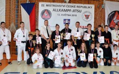 Oddíl Sebeobrany Allkampf-Jitsu  SKP České Budějovice posedmé v řadě obhájil titul Mistra republiky v Allkampf Jitsu